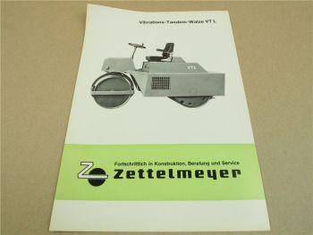 Prospekt Zettelmeyer VT L Vibrations Tandemwalze