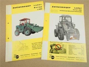 2 Prospekte Zettelmeyer Europ L500 Radlader 1965/66