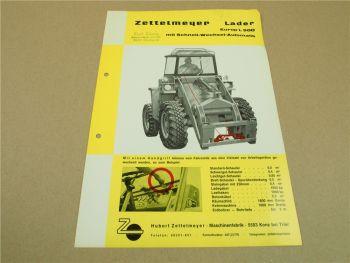 1 Prospekt Zettelmeyer Europ L500 Radlader mit Schnell Wechsel Automatik 1966