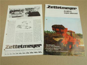 Prospekt Zettelmeyer ZL601S super silenced und Ausschnitt Baumaschinentechnik