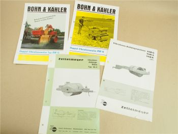 4 Prospekte Zettelmeyer VAM G S K VA3 Bohn & Kähler RW 10 15 Walzen 1965-1973