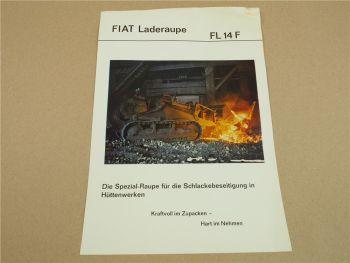 Prospekt Fiat FL14F Laderaupe Spezialraupe für Schlackebeseitigung