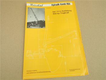 Prospekt Rüdel RKA 8000 4000 Hydraulik Kranaufbau auf LKW RBA Hydraulik Kombi