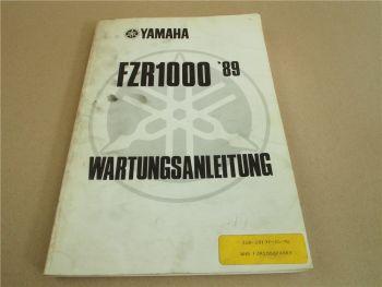 Yamaha FZR1000 Werkstatthandbuch Wartungsanleitung Reparaturanleitung 1989