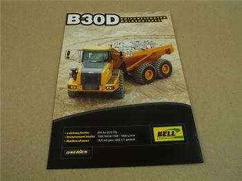 Prospekt Bell B30D Muldenkipper knickgelenkt D-Serie 2008