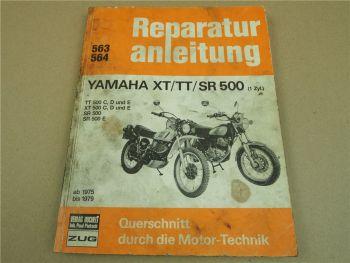 Yamaha XT TT SR 500  1-Zyl. ab 1975-1979 Werkstatthandbuch Reparaturanleitung