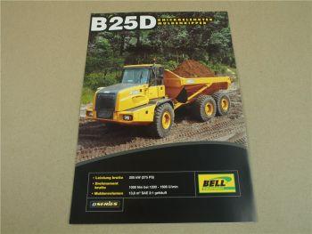 Prospekt Bell B25D Muldenkipper knickgelenkt D-Serie 2008