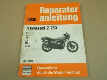 Kawasaki Z750 E1 H1 E2 L1 R1 GPZ Reparaturanleitung Werkstatthandbuch ab 1980