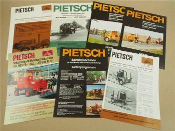 7 Prospekte Max Pietsch Hannover Spritzmaschinen HT600 HK400 RT5000 KSP80M