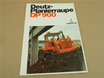 Prospekt Deutz DP900 Planierraupe von 1971