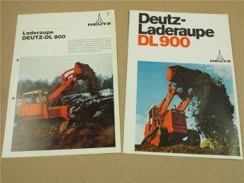 2 Prospekte Deutz DL900 Laderaupe von 1970 1971