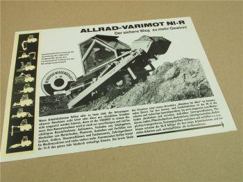 Prospekt Lanz Hela Allrad Varimot Typ NI-R mit 27 PS MWM Motor 70er Jahre