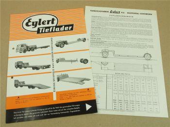 2 Prospekte Eylert AT 62 70 80 92 120 - 200 Tieflader Anhänger mit Daten Preisen