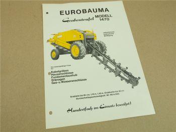 Prospekt Eurobauma Grabenteufel 1470 aus den 60/70er Jahren