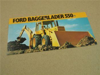 Prospekt Ford 550 420 Baggerlader  um 1975