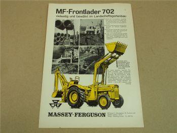 Prospekt Massey Ferguson MF 702 Frontlader für MF 203 von 3/1965