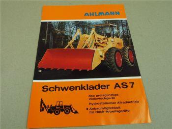 Prospekt Ahlmann AS7 Schwenklader mit KHD Deutz Motor 1969