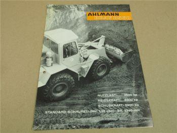 Prospekt Ahlmann Bray B550 Radlader Schaufellader mit Ford Diesel Motor 1965
