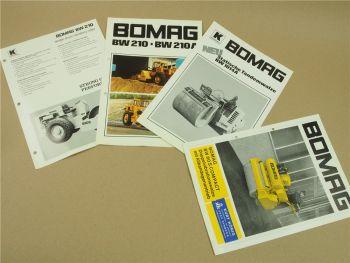 4 Prospekte Bomag BW80S Compact BW1014A BW210 A Walzen 60/70er Jahre