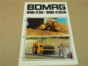 Prospekt Bomag BW210 BW210A Walzen 1973