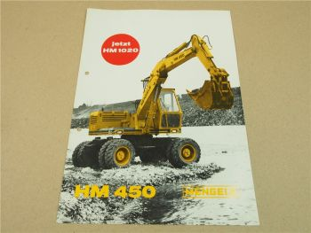 Prospekt Mengele HM450 HM1020 Bagger mit Deutz Motor 1971