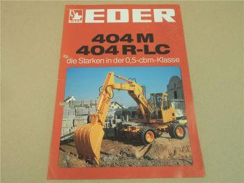 Prospekt EDER 404M 404R-LC Mobilbagger ca 1981 und Angebot