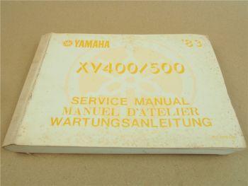 Yamaha XV400 XV550 Werkstatthandbuch Reparaturanleitung 1983