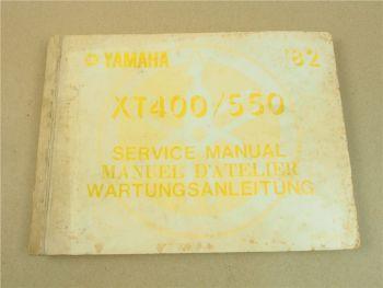 Yamaha XT400 XT550 Werkstatthandbuch Reparaturanleitung 1982