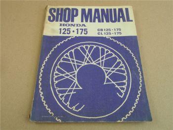 Workshop Repair Manual Honda CB / CL 125 175 Shop Manual 1974