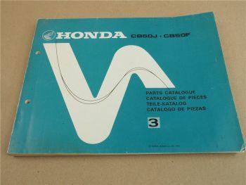 Honda CB50J CB50F Ersatzteilliste Ersatzteilkatalog Parts Catalogue 1978