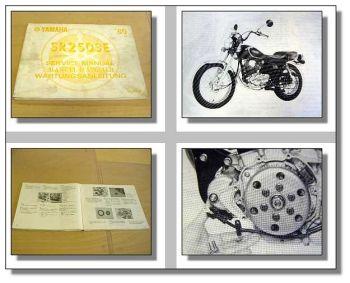 Werkstatthandbuch Yamaha SR250SE Reparaturanleitung ab 1980