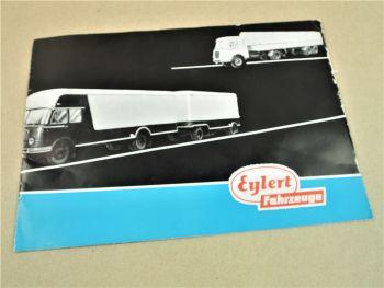 Prospekt Eylert Fahrzeuge Aufbauten für LKW Sattelanhänger Kippanhänger ca 1960