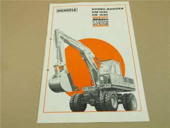 Prospekt Mengele HM1030 HR1030 Hydro Bagger 1971