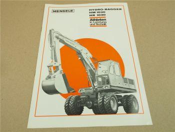 Prospekt Mengele HM1030 und HR1030 HydroBagger von 1971