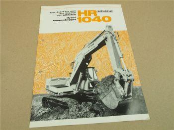 Prospekt Mengele HR1040 Hydro Raupenbagger von Februar 1971