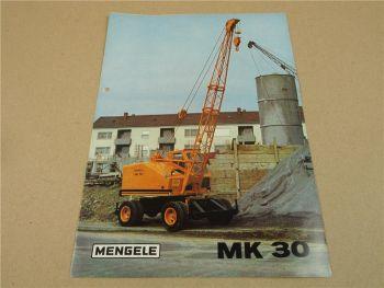 Prospekt Mengele MK30 Mobilkran von 1970