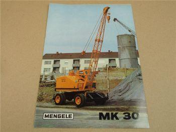 Prospekt Mengele MK30 Mobilkran 1970