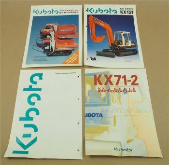 4 Prospekte kubota KX71-2 KX151 KX Serie Komplettprogramm und Kettendumper KC