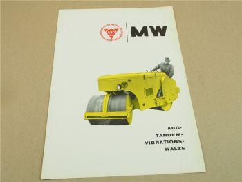 Prospekt ABG Vibrations Tandemwalze Typ MW von 1963