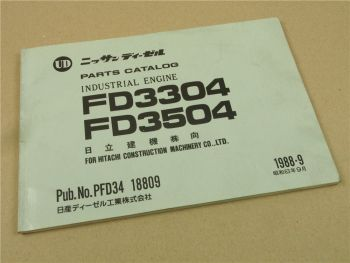 UD Nissan FD3304 FD3504 Industrial Engine Parts Catalog List 1988