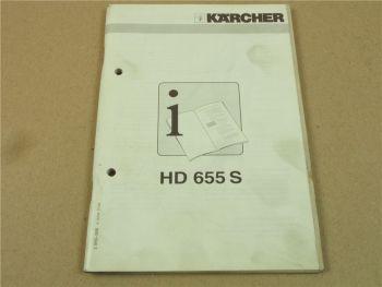 Kärcher HD655S Betriebsanleitung HANDLEIDING Operating Istructions 1996
