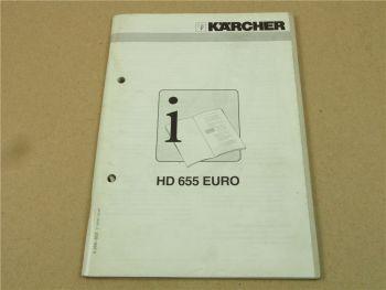 Kärcher HD655 EURO Betriebsanleitung HANDLEIDING Operating Istructions 7/1997