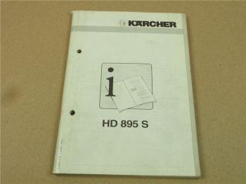 Kärcher HD895S Bedienungsanleitung Betriebsanleitung 1996