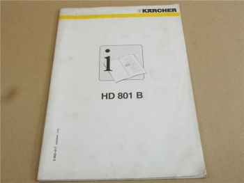 Kärcher HD801B Betriebsanleitung Bedienungsanleitung 2001