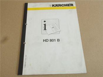 Kärcher HD801B Betriebsanleitung Bedienungsanleitung 3/1998