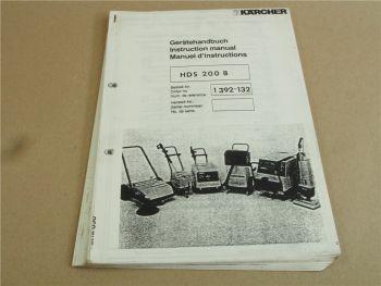 Kärcher HDS200B HDS900B Betriebsanleitung und Ersatzteilliste