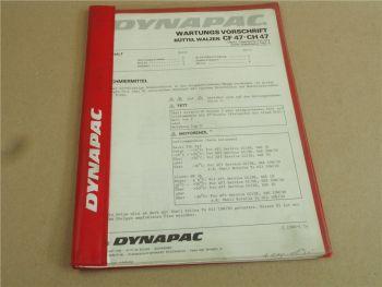 Dynapac CF47 - CH47 Parts List Ersatzteilliste und Wartungsvorschrift