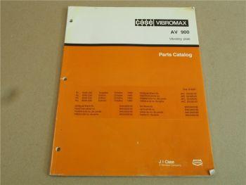 Case Vibromax AV900 Vibrationsplatte Ersatzteilliste 1990 Parts List Pieces rech