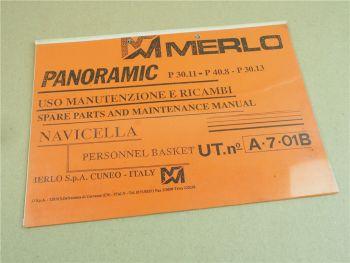 Merlo Panoramic P30.11 P40.8 P30.13 Ersatzteilliste Ersatzteil-Bildkatalog