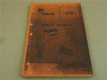 Bobcat 825 Lader Parts List Ersatzteilliste in engl. Bedienungsanleitung ca 1988
